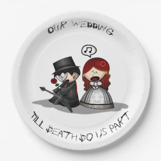 Till Death Do Us Part 9 Inch Paper Plate
