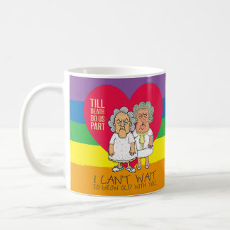 Till death do us part pride love LGBT women Coffee Mug