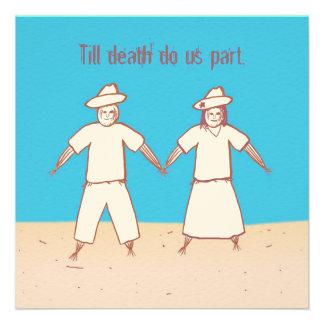 Till death do us part Scarecrow Wedding Invitation