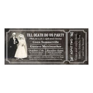 Till Death Do Us Party Couples Shower Tickets 10 Cm X 24 Cm Invitation Card