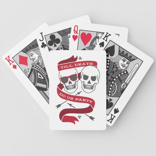 Till Death Do Us Party - Red / Gray Playing Cards