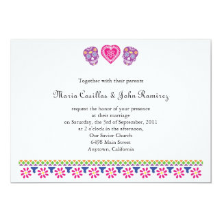 "Till Death Sugar Skulls Banner 5"" X 7"" Invitation Card"