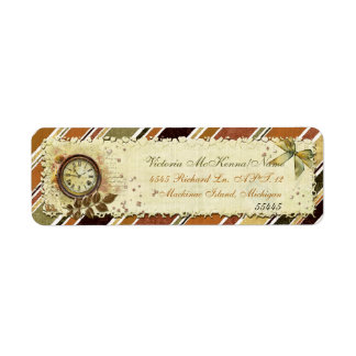 Till The End of Time Victorian BUSINESS OFFICE Return Address Label