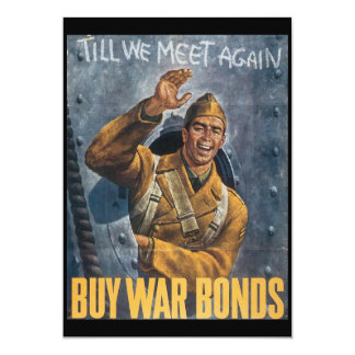 Till We Meet Again World War II 13 Cm X 18 Cm Invitation Card