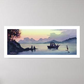 """Tillamook Bend"" Landscape Watercolor Poster"
