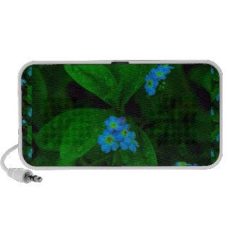 TILLY LIGHT Flowers : Dark Green Leafs Show Speaker System