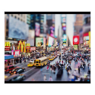 Tilt-shift - Time Square - New York Poster
