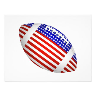 Tilted Football With American Flag Design (1) 21.5 Cm X 28 Cm Flyer