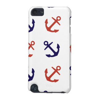 Tilted Nautical Anchor Pattern iPod Touch 5G Covers
