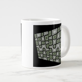 Tilted Squares Giant Coffee Mug