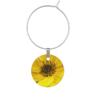 Tilted Sunflower Wine Charm