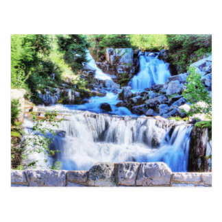 Tilted Waterfall HDR Postcard