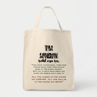 Tim Minchin Canvas Bag