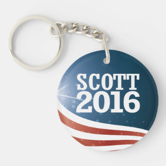 Tim Scott 2016 Single-Sided Round Acrylic Key Ring