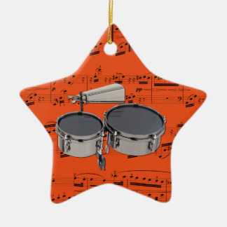 Timbales - Pick your color Ceramic Ornament
