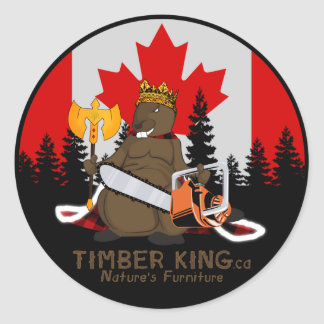 Timber King Log and Stone Furniture Classic Round Sticker