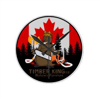 Timber King Log and Stone Furniture Round Clock
