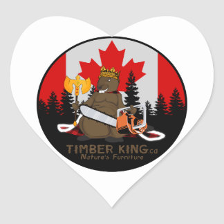 Timber King Log Furniture Manitoba Heart Sticker