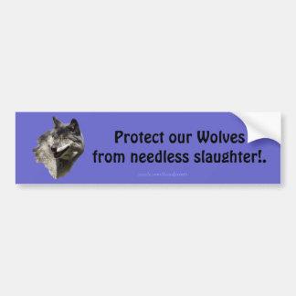 Timber Wolf Conservation Bumper Sticker