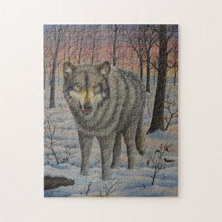 Timber Wolf Jigsaw Puzzle