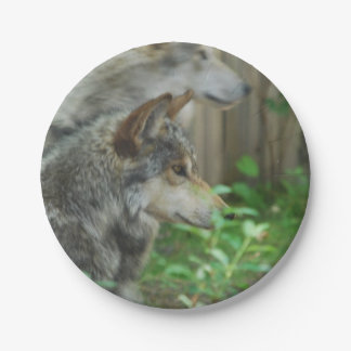 Timber Wolf Paper Plate