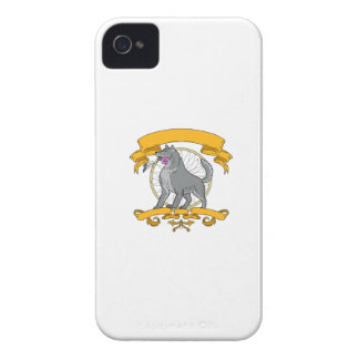 Timber Wolf Plumeria Flower Dreamcatcher Drawing iPhone 4 Case-Mate Case