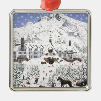 Timberline Lodge Metal Ornament