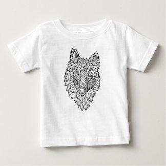 Timberwolf Line Art Design Baby T-Shirt