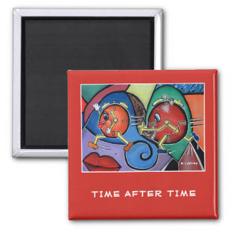 Time After Time On Red  -  Time Pieces Magnet