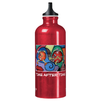 Time After Time  - Red - Time Pieces Water Bottle