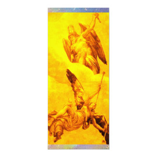 TIME AND FAME ,yellow 10 Cm X 24 Cm Invitation Card
