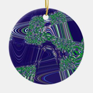 TIME AND SPACE ARE NEVER LINEAR CERAMIC ORNAMENT