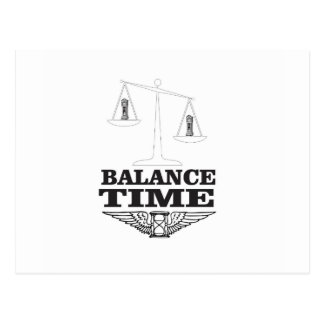time balance tip postcard
