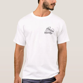 """TIME BEGINS TO MOVE AGAIN"" (White) T-Shirt"