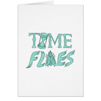 Time Flies Drawing Card