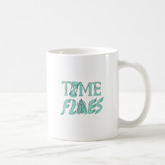 Time Flies Drawing Coffee Mug