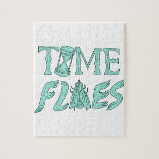 Time Flies Drawing Jigsaw Puzzle