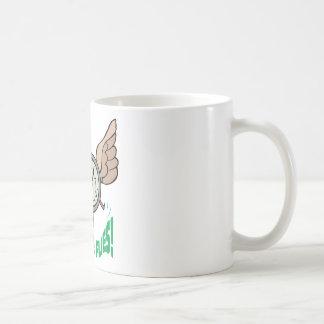 Time Flies ~ Flying Alarm Clock Word Play Coffee Mugs