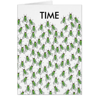 Time Flies Get Together greeting card