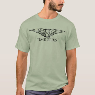 Time Flies Hourglass with Wings Shirt