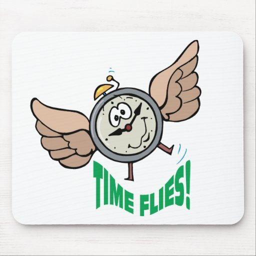 Time Flies Mouse Mats