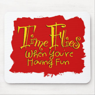 Time Flies Mouse Pad