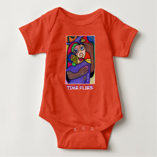 Time Flies - Orange - Time Pieces Baby Bodysuit