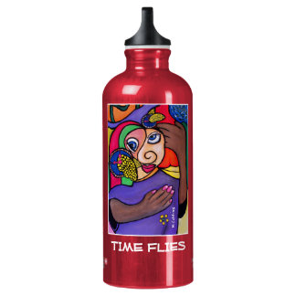 Time Flies - Red - Time Pieces Water Bottle