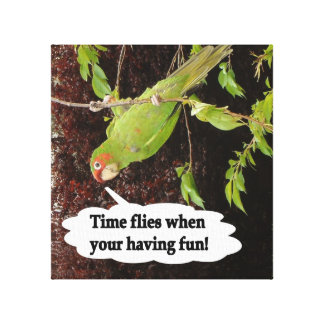 Time Flies When You're Having Fun Stretched Canvas Prints