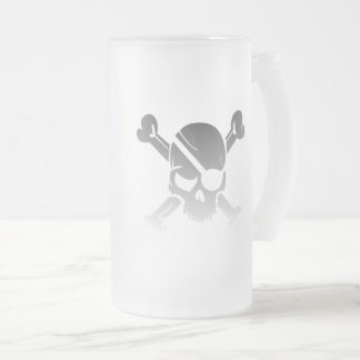 Time Flies when you're Having RUM Frosted Glass Beer Mug