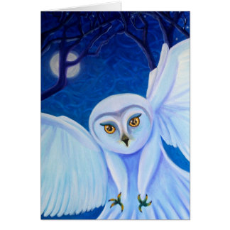 Time Flies, white owl card