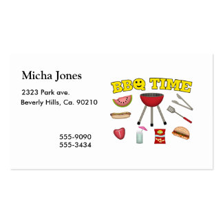 Time For A BBQ Pack Of Standard Business Cards