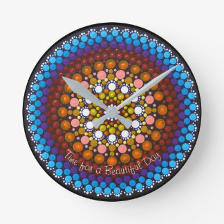 Time for a Beautiful Day Mandala Clock