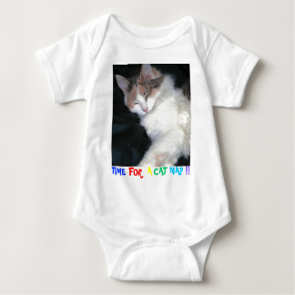 TIME FOR A CAT NAP!! BABY BODYSUIT